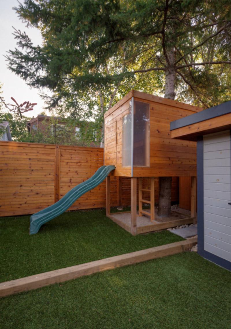 play house built around a tree