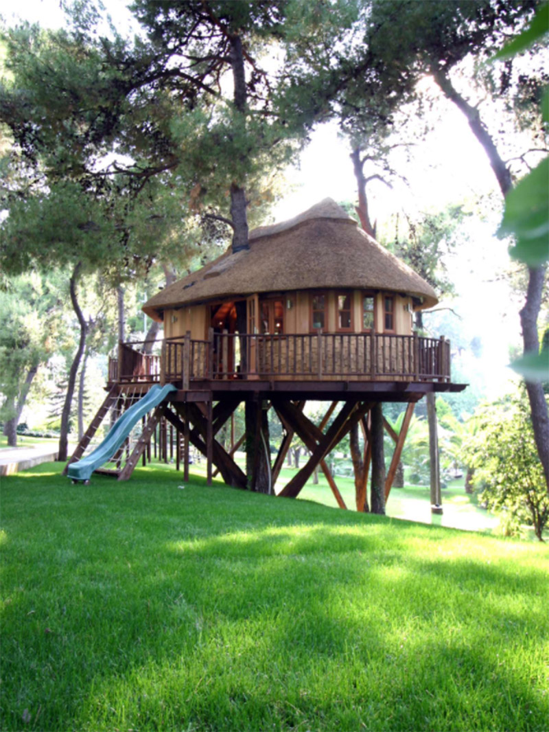 eclectic treehouse design sussex