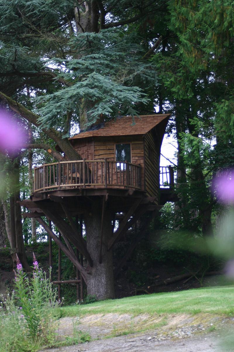 dark square treehouse simple