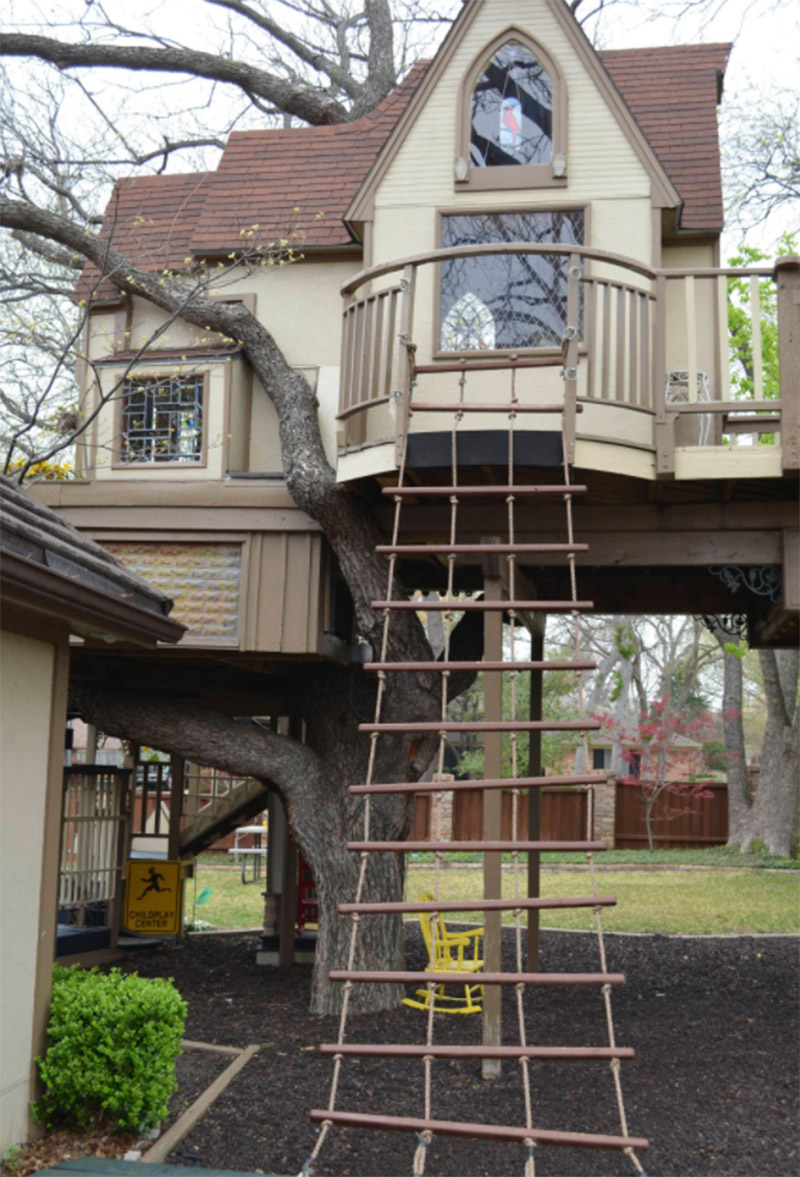 massive treehouse playhouse design