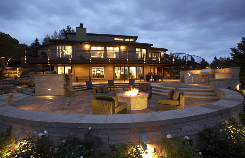 modern luxurious sunken patio