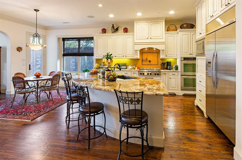 southwestern styled kitchen island