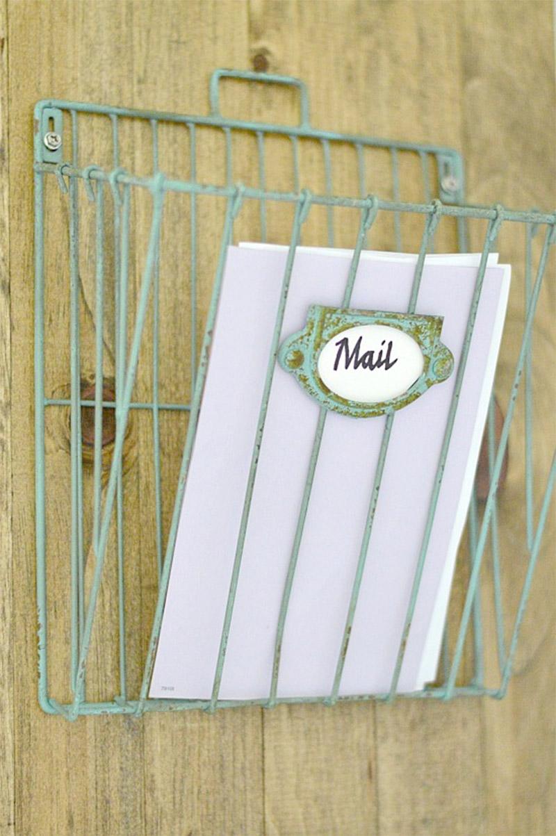 rustic wall mail organizer