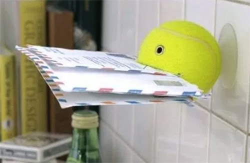 tennis ball diy wall mail holder