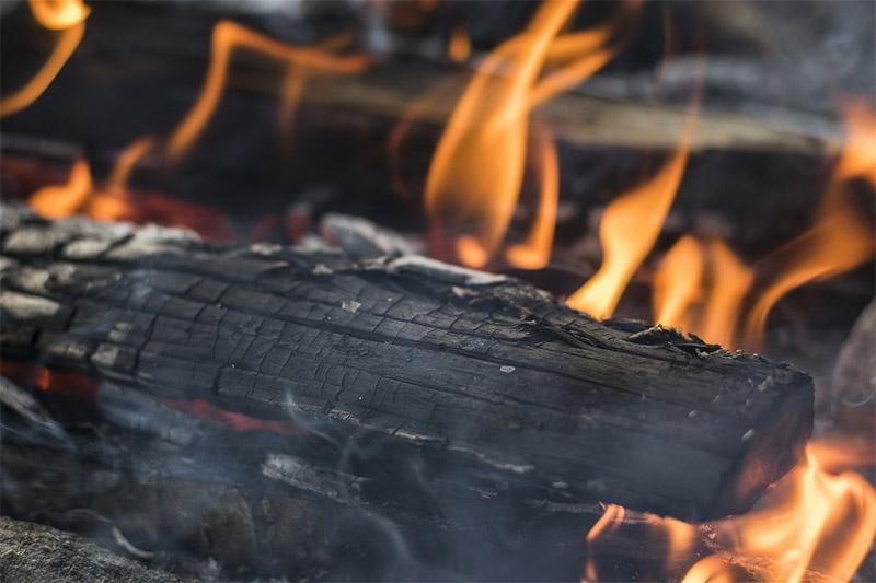 firewood logs burning