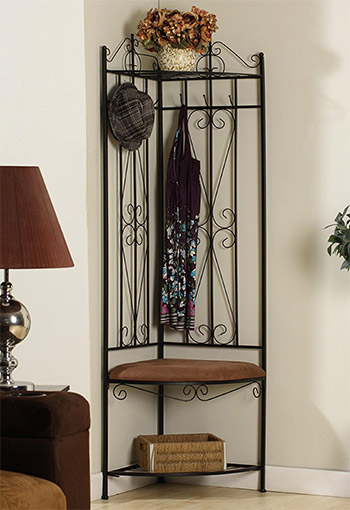 kings brand metal coatrack halltree
