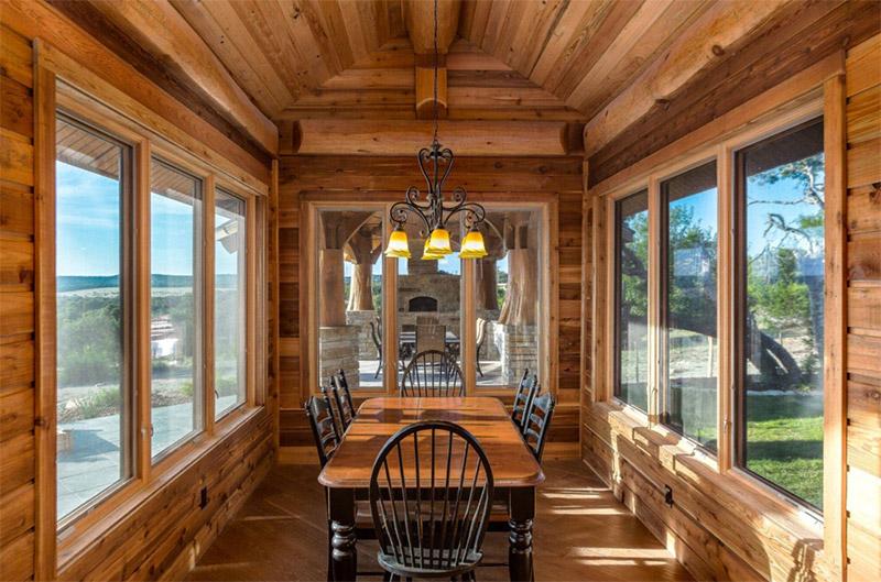 bright cabin dining interior