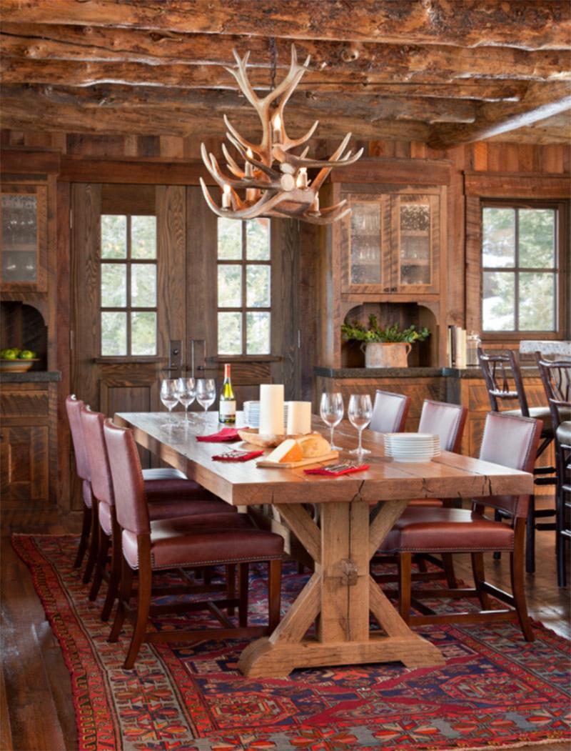 spanish peaks cabin dining room