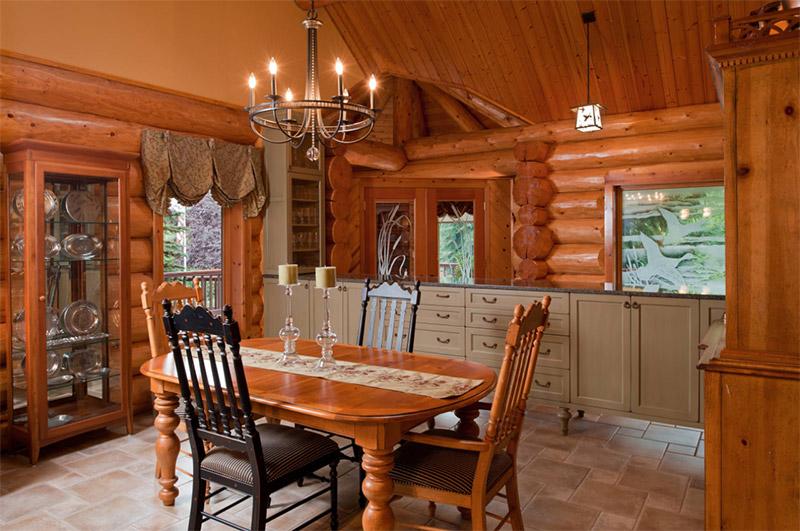 portland rustic dining area cabin