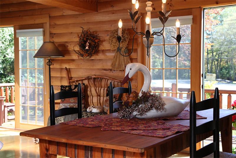 cabin dining room interior