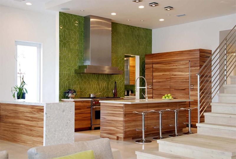 bright eco green kitchen