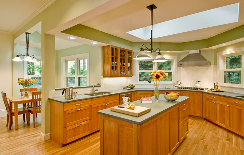 house from 1870s green kitchen renovation