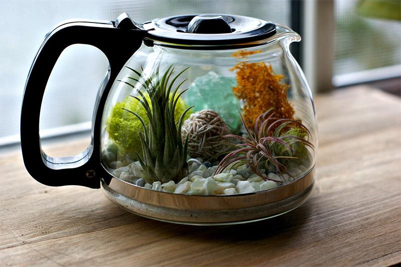 coffee pot diy decor