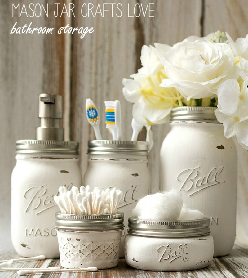 mason jar bathroom custom