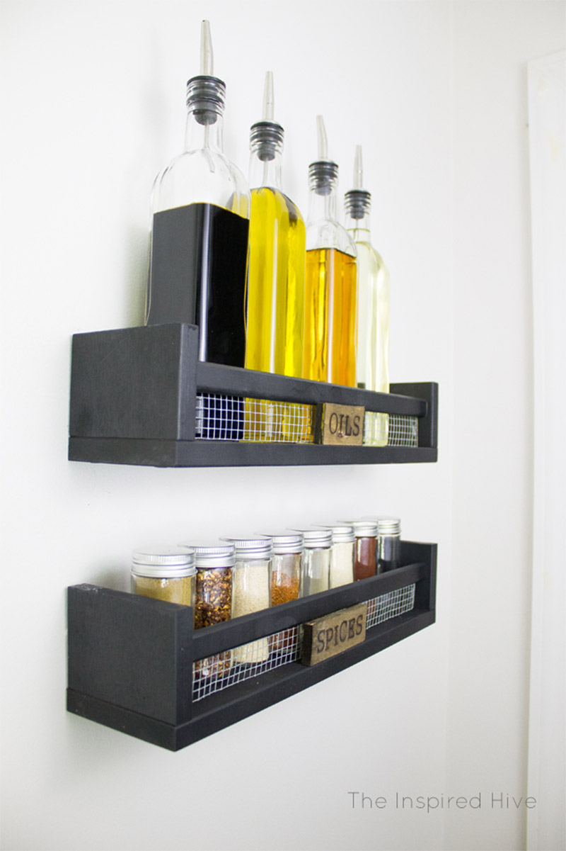 rustic spice rack design