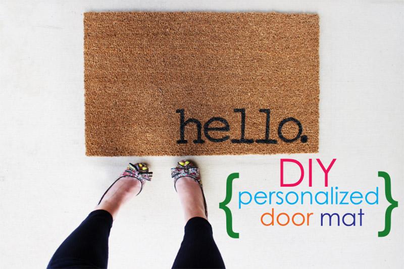 personal doormat design
