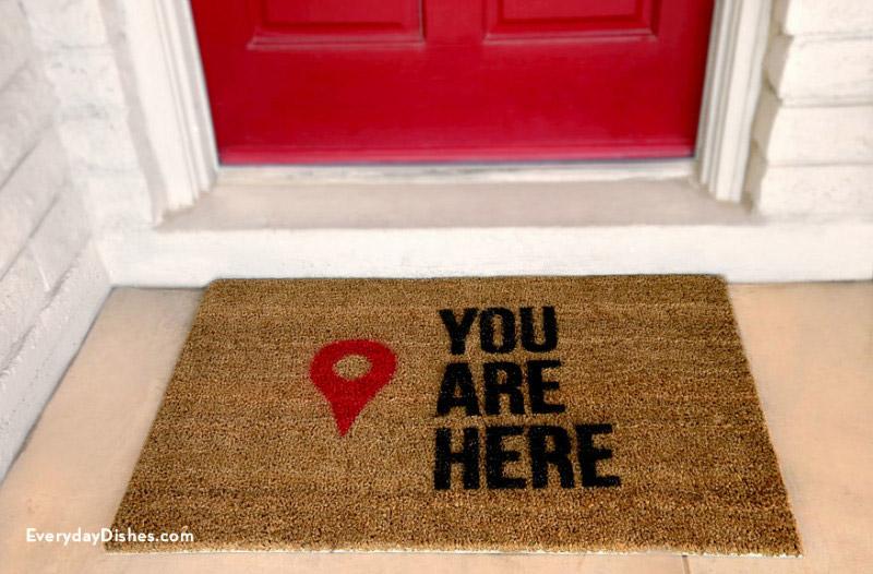 geo pin marker doormat