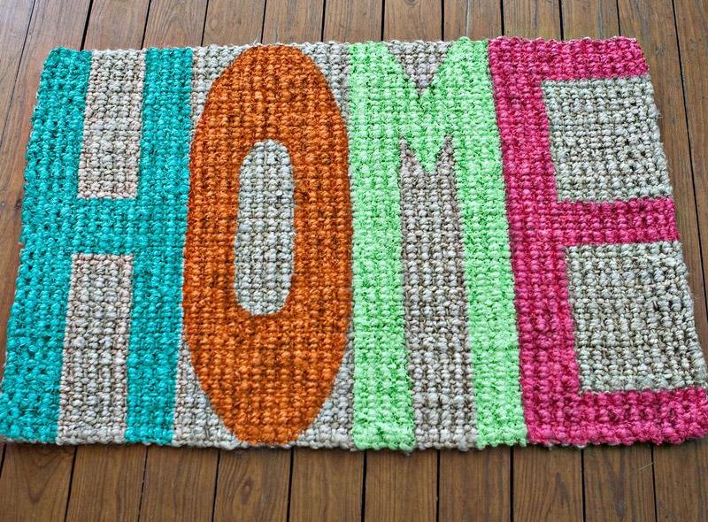 home typography doormat