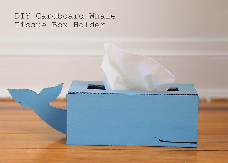 kids whale creature tissue box