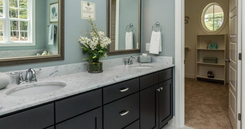 black bathroom cabinets