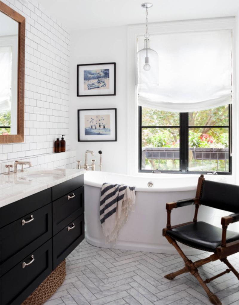 breeze interiors dark modern bathroom