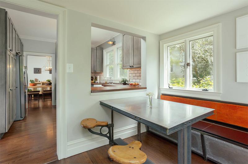 modern industrial passthrough kitchen