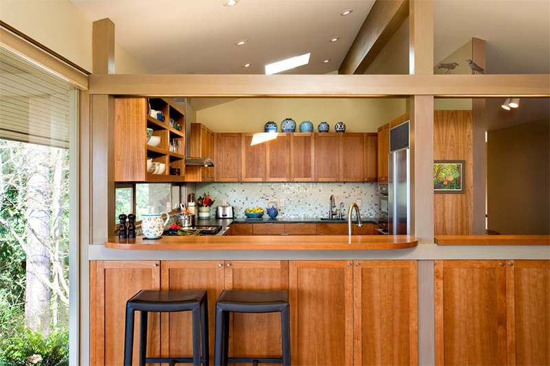 midcentury kitchen interior
