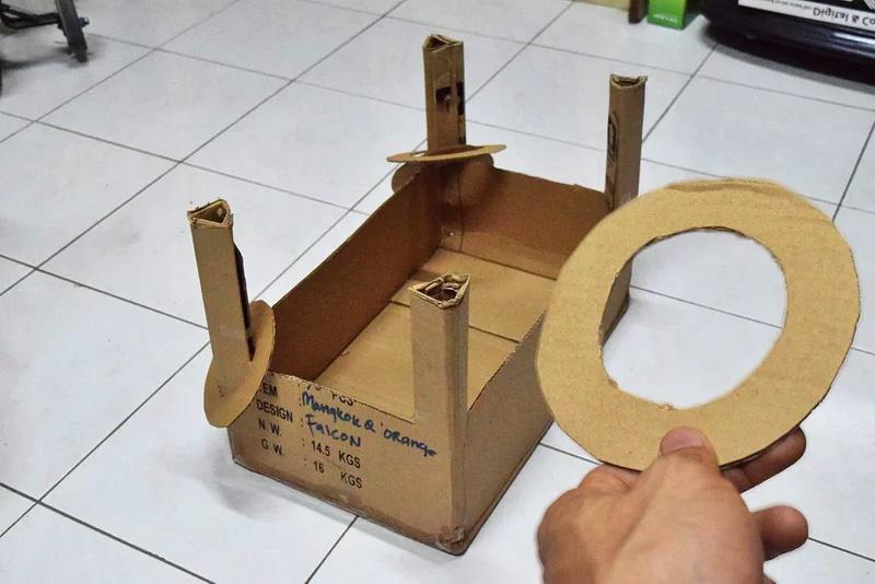 Full cardboard diy toss