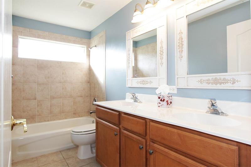 Interior bright bathroom daytime