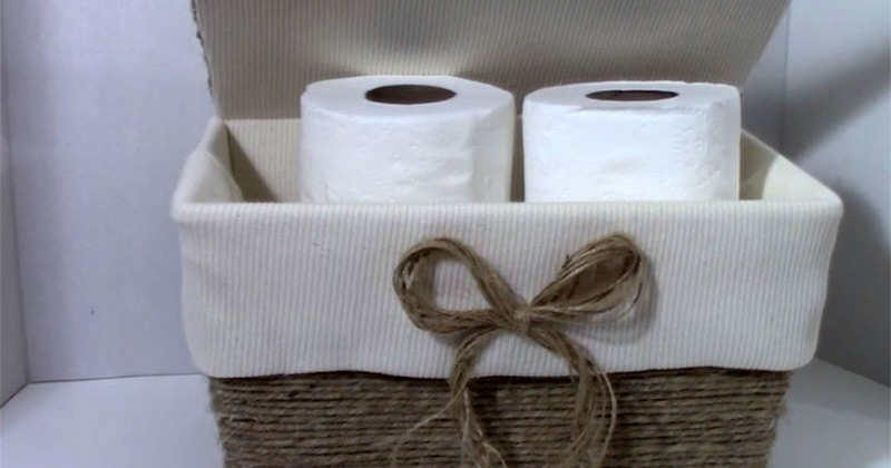 wicker tp holder
