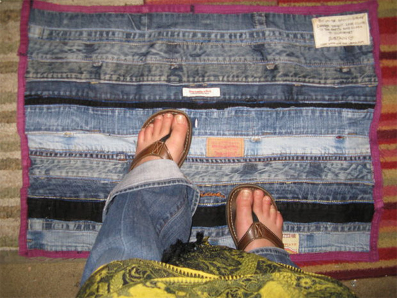 denim jeans bathmat