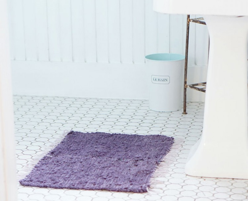 quick bathmat diy