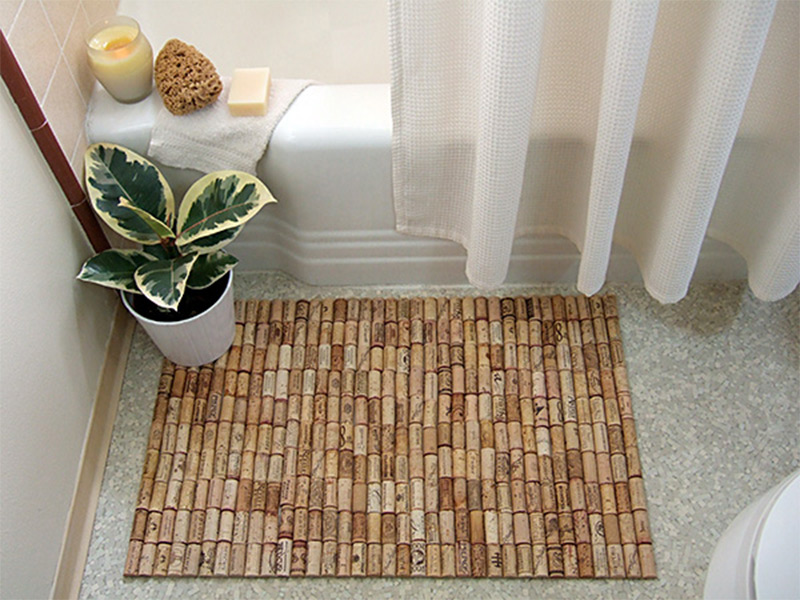 cork bottle bathmat