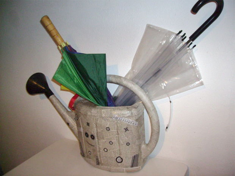 watering can umbrella holder