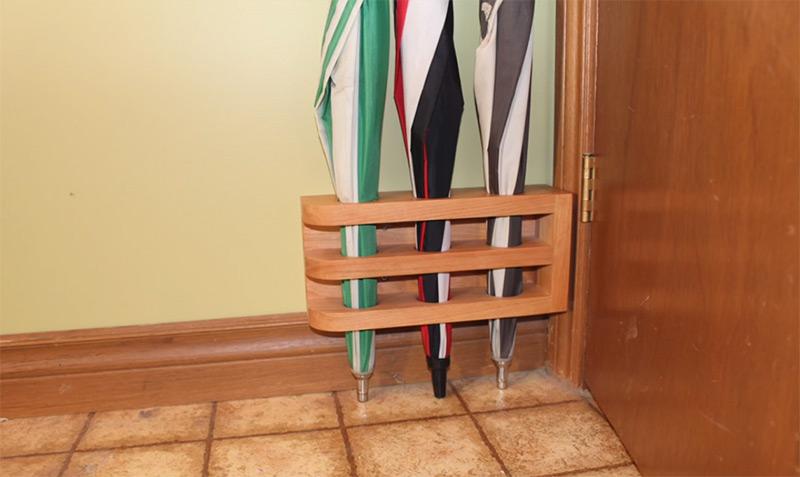 handmade wooden corner stand umbrellas