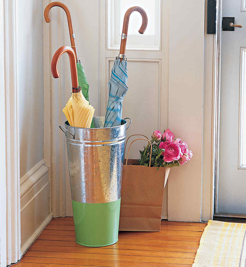 flower bucket umbrella holder