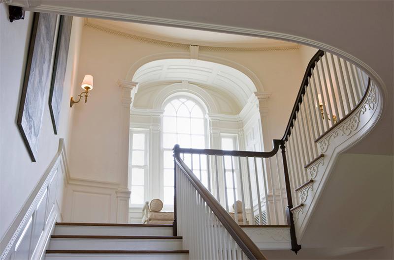 Custom staircase landing looking up