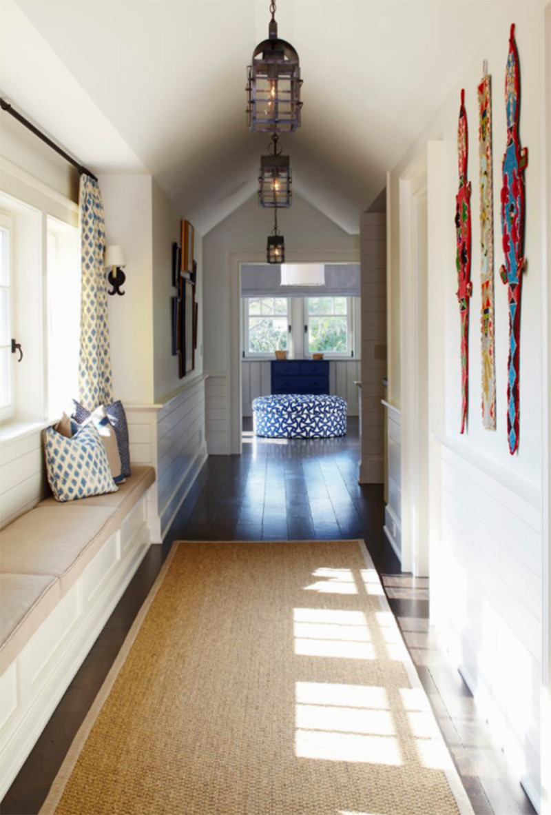 Beach house interior hallway design