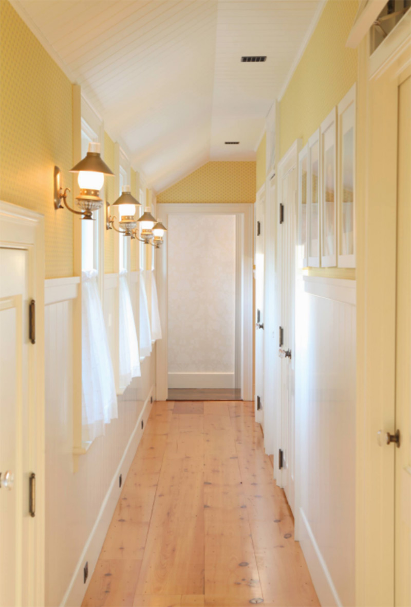 Back hallway in farmhouse
