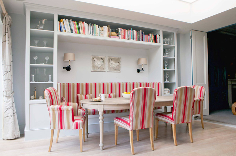 Bright family dining room design