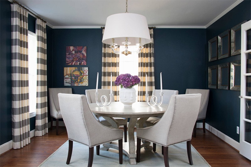 Traditional Houston blue dining room