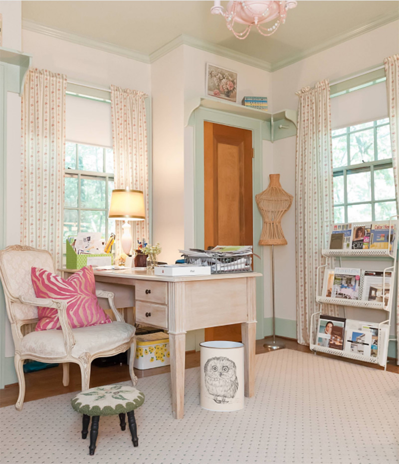 Beautiful storybook sewing room design
