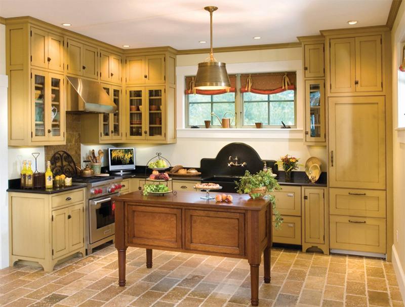 Urban farmhouse black kitchen interior