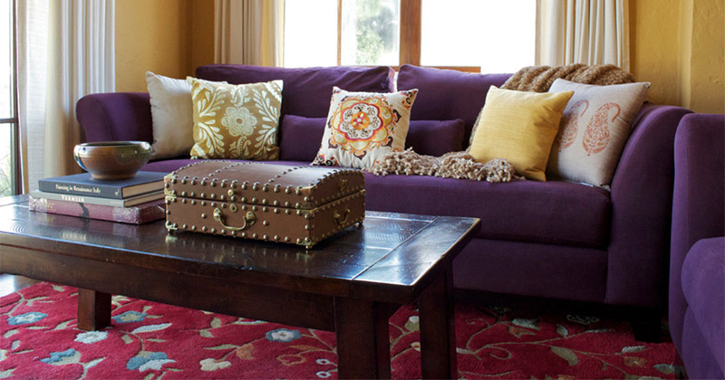 featured purple sofa design