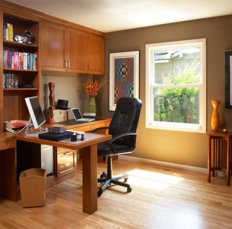 SF Bay home office corner desk