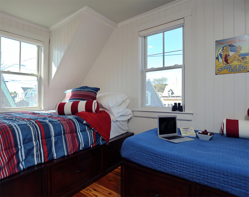 Beach house master bedroom