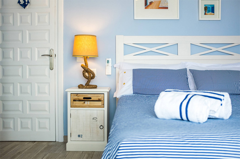 Blue baby themed bedroom nautical