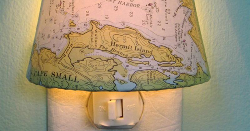 Maine map nightlight