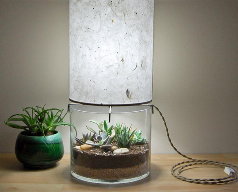 home decor terrarium table lamp custom design etsy