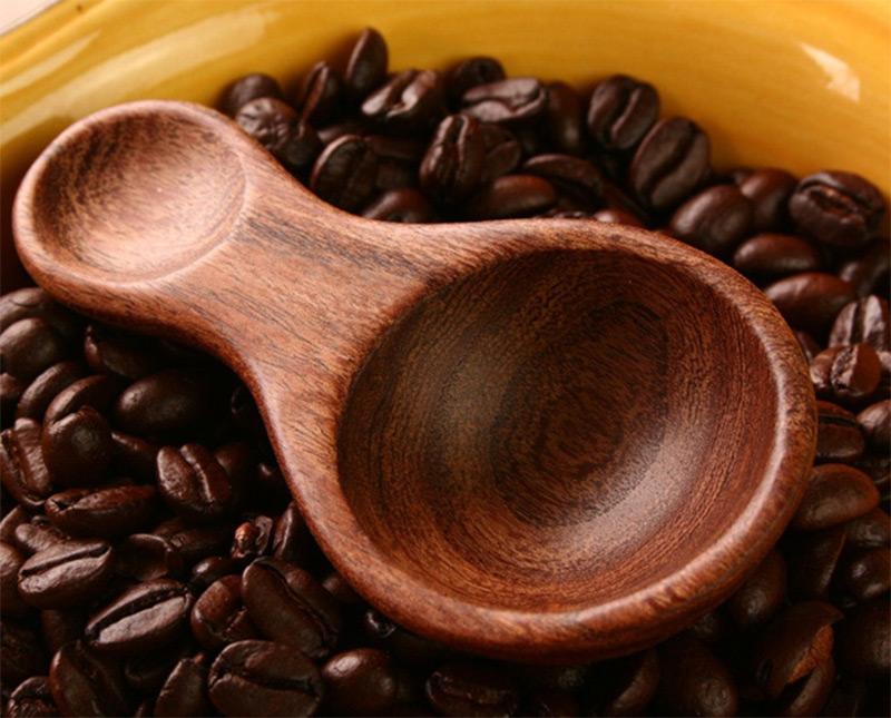 dark mesquite wood tablespoon